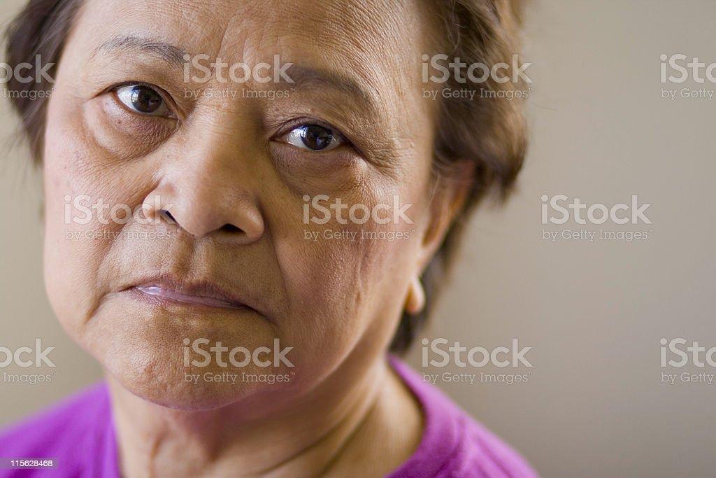 Elderly Asian Woman royalty-free stock photo