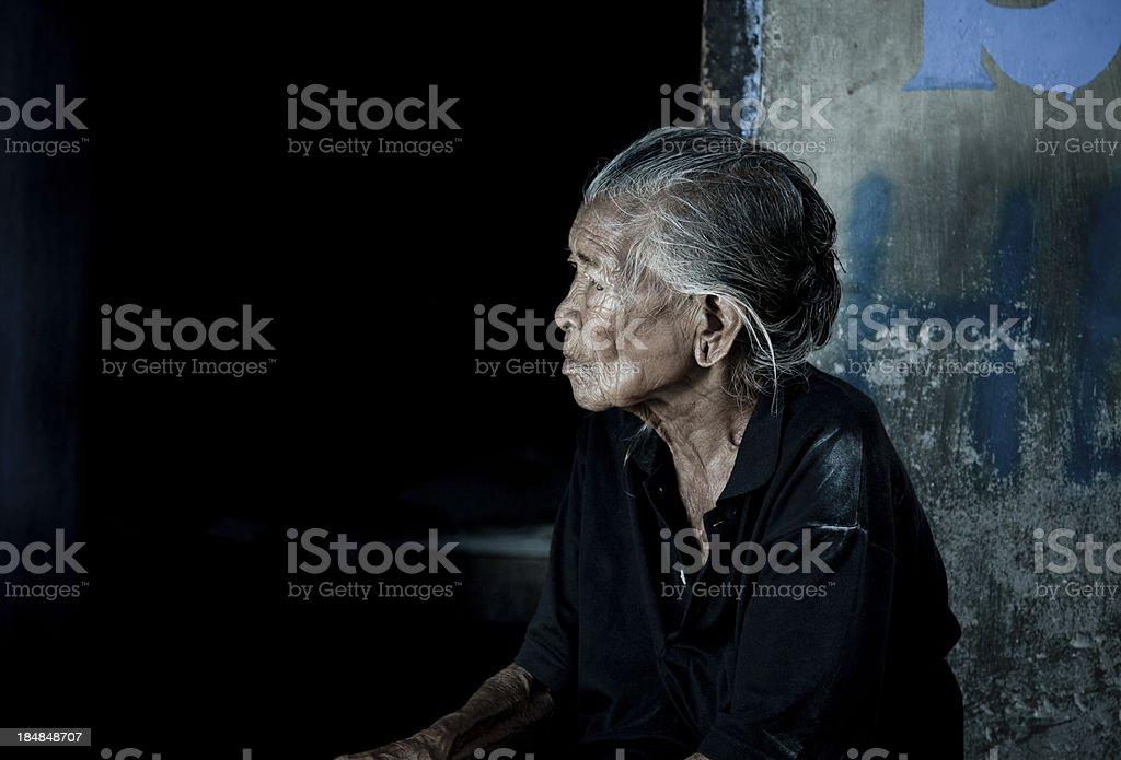 Elderly Balinese Woman stock photo