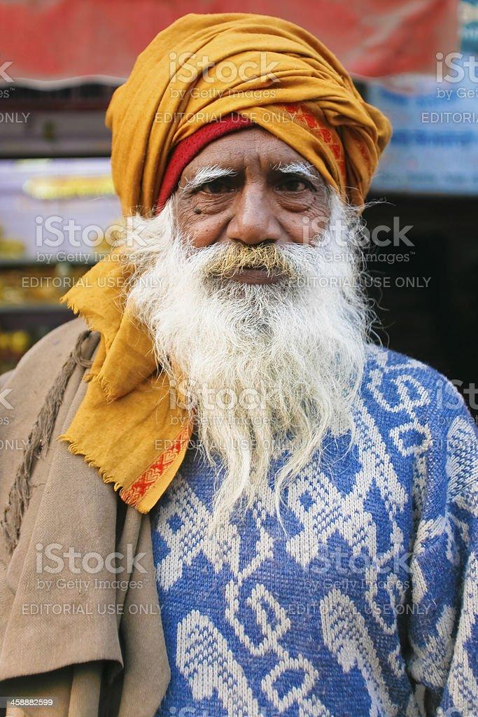 Elderly bearded man stock photo