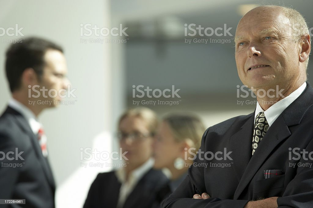 elderly businessman royalty-free stock photo