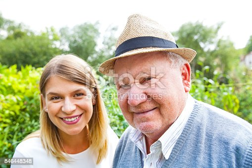 istock Elderly care outdoor 846448348