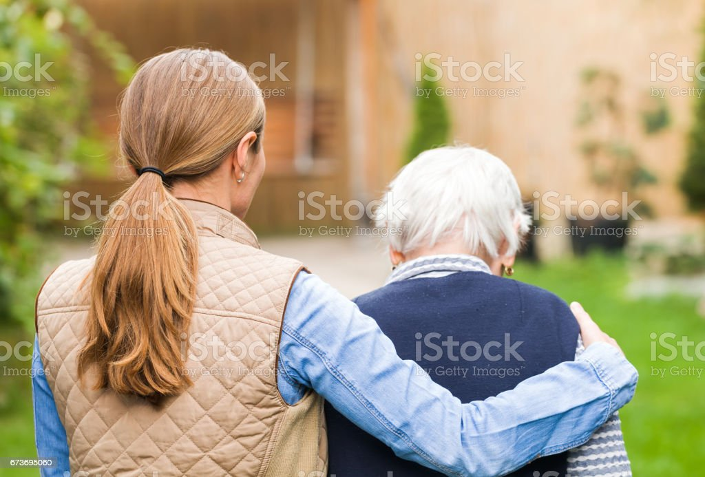 Elderly care - foto de stock