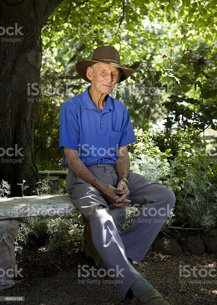 Elderly Country Man stock photo