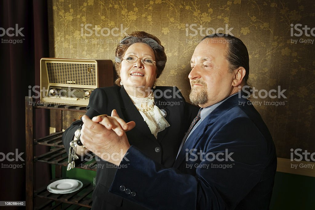 elderly couple dancing royalty-free stock photo