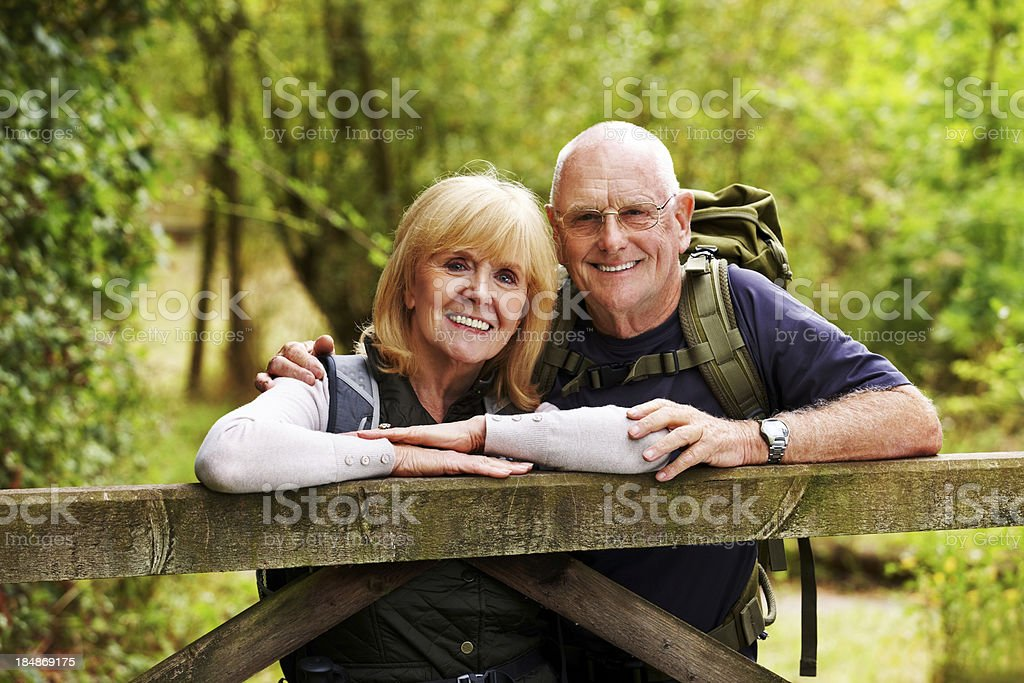 Elderly Couple in the Outdoors royalty-free stock photo