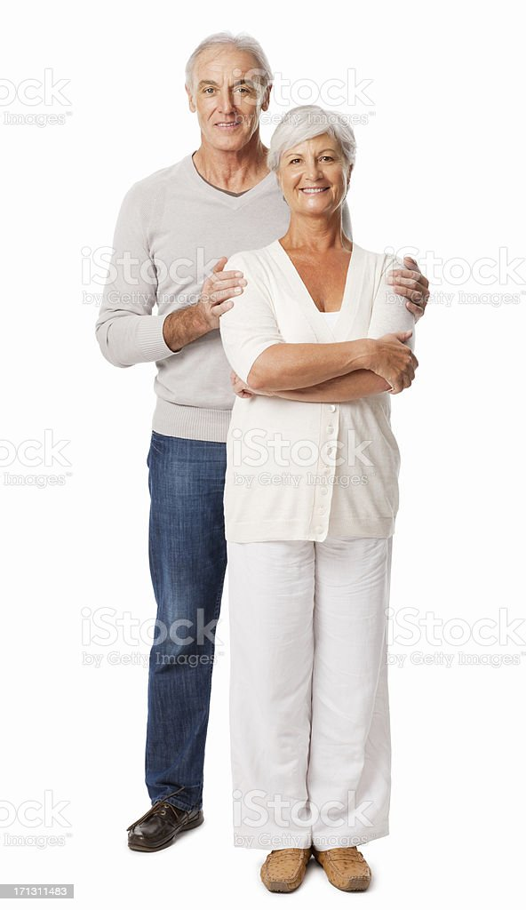 Elderly Couple Standing Together - Isolated royalty-free stock photo