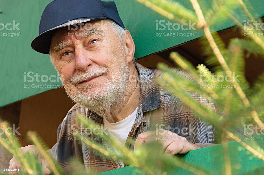 Elderly Funny Face stock photo