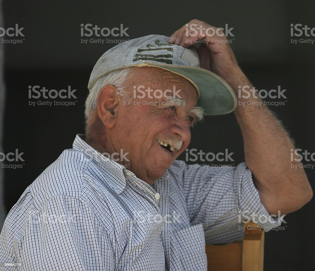 elderly Greek man royalty-free stock photo