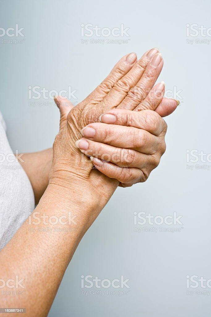 Elderly Hands stock photo