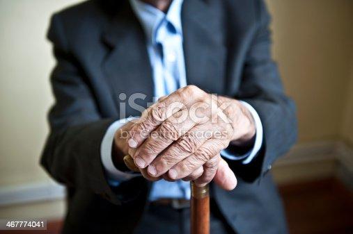 istock Elderly hands 467774041
