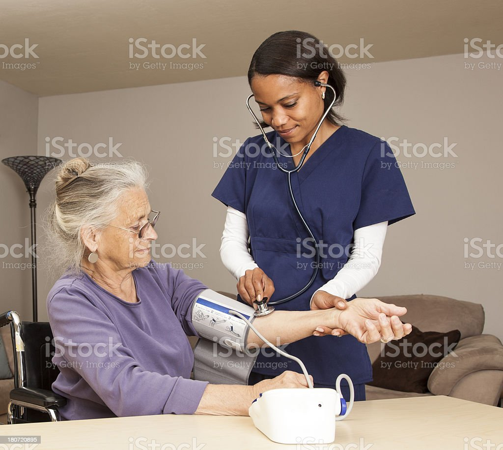 elderly healthcare royalty-free stock photo