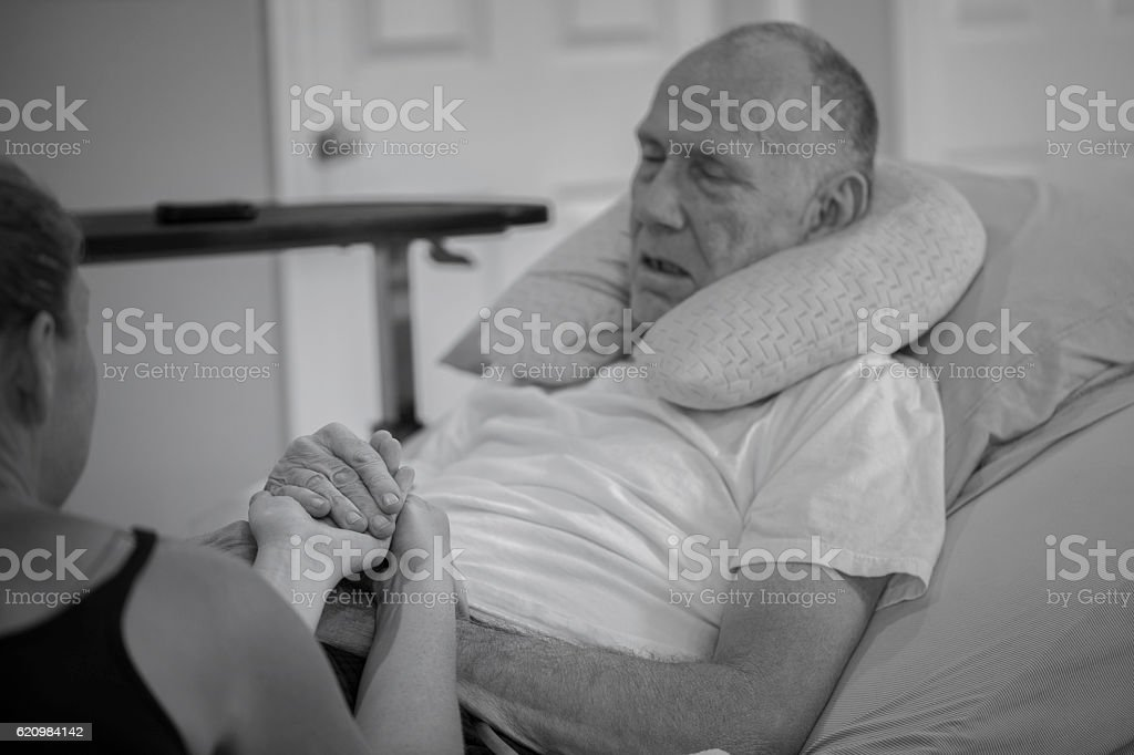 Elderly Home Hospice Patient foto royalty-free