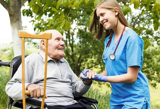Älterer Homecare – Foto