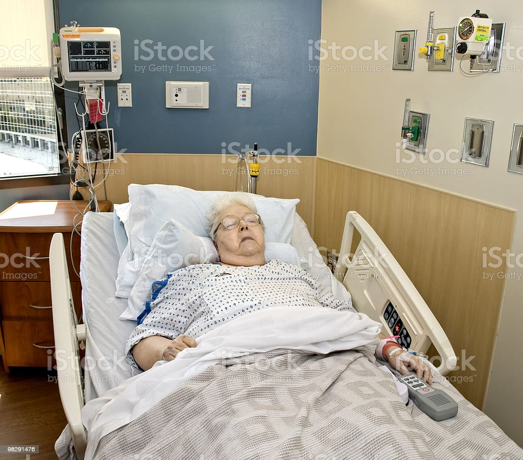 Elderly Hospital Patient royalty-free stock photo