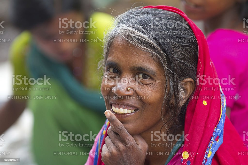 Elderly Indian woman royalty-free stock photo