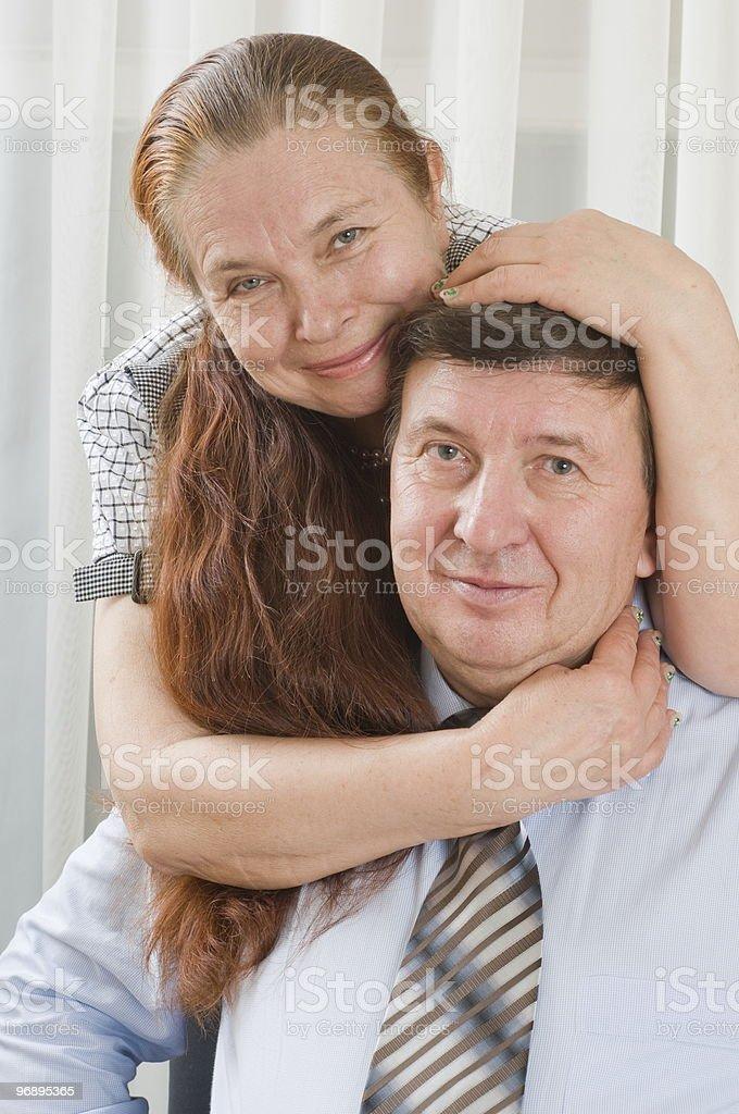 Elderly loving couple. royalty-free stock photo