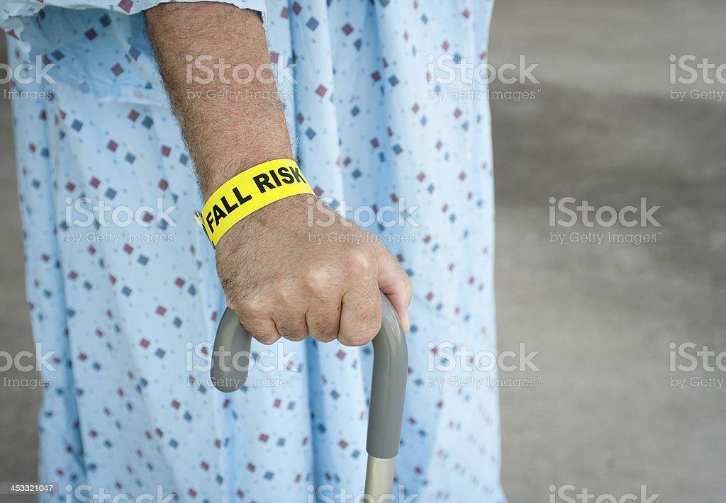 Elderly Man A Fall Risk stock photo