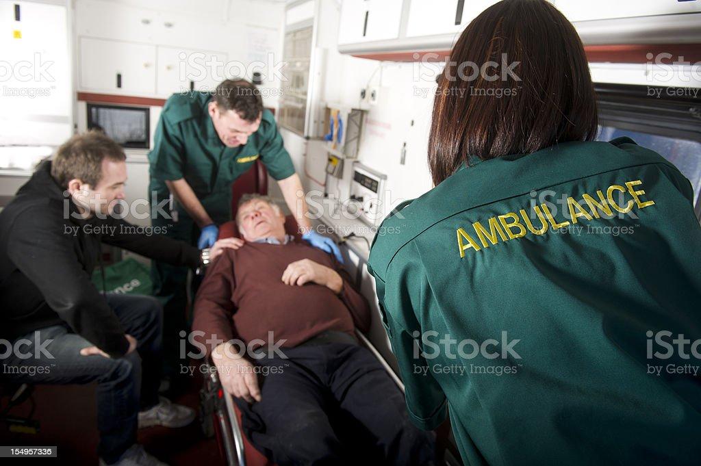 Elderly man injured stock photo