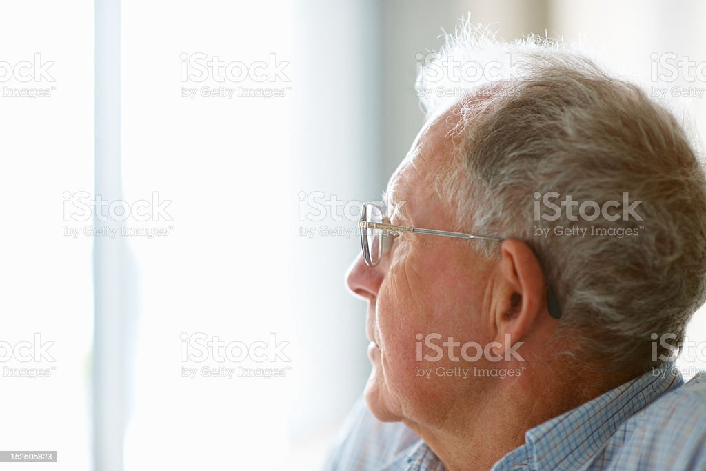 Elderly man looking away royalty-free stock photo