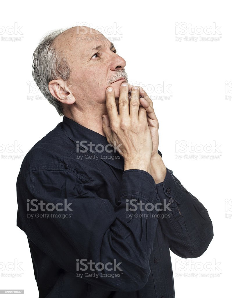 Elderly man royalty-free stock photo