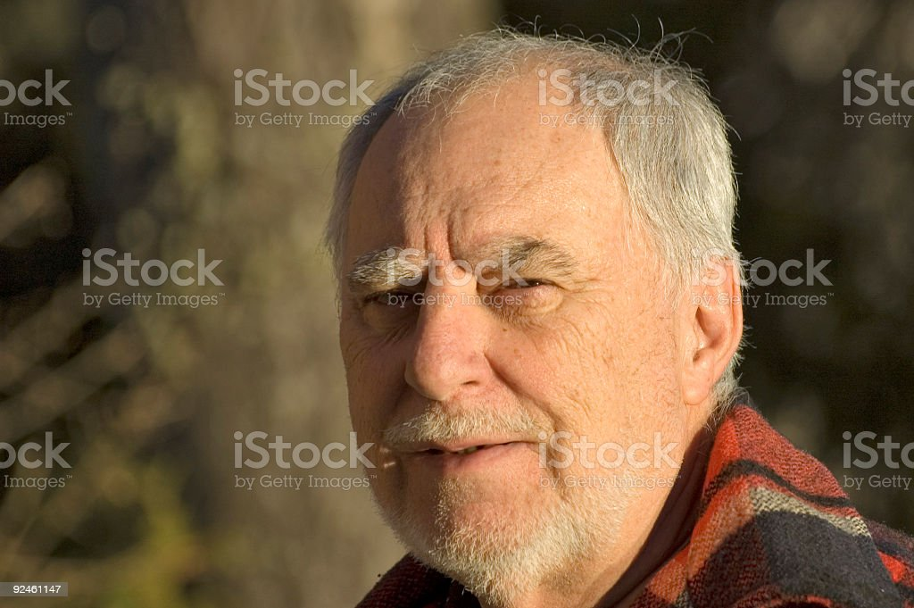 Elderly man portrait 1 royalty-free stock photo