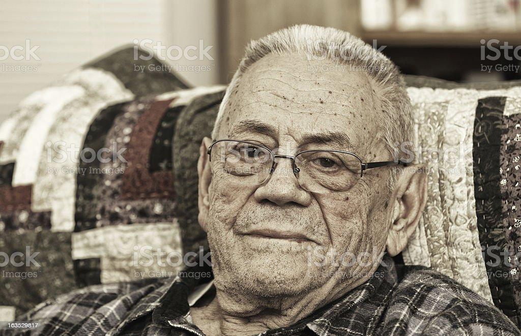 Elderly Man Portrait royalty-free stock photo