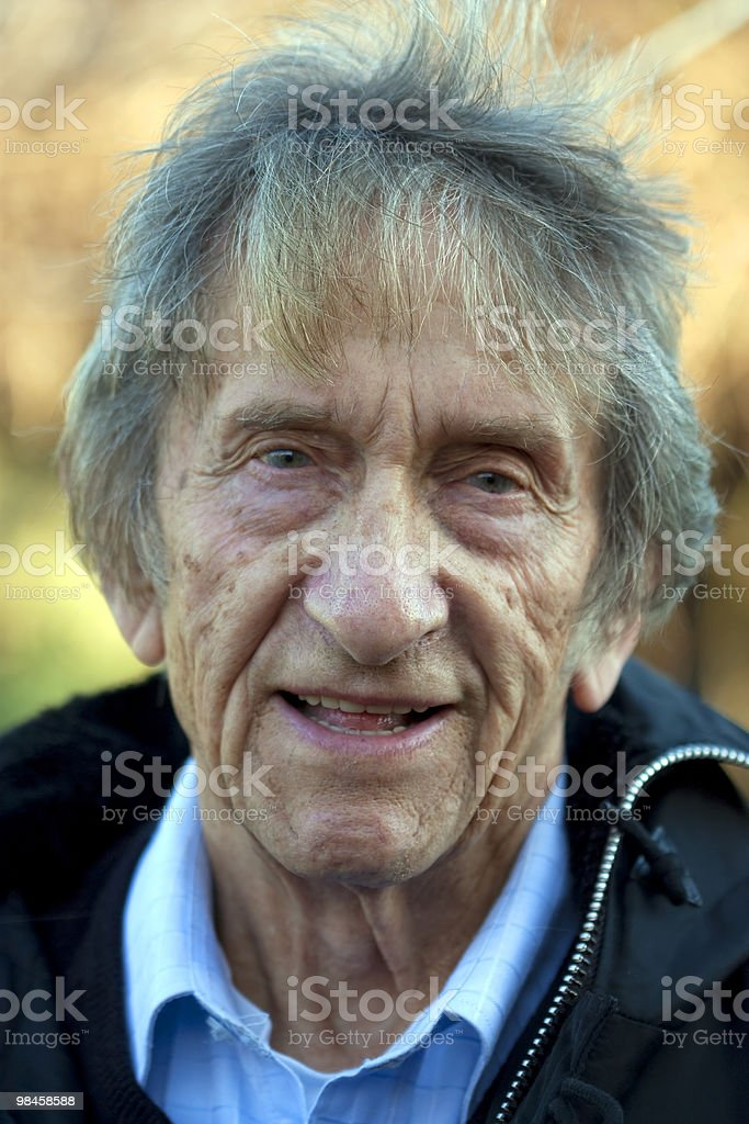 elderly man portrait royalty-free stock photo