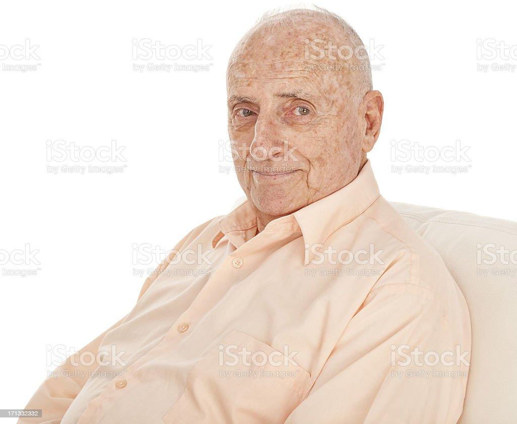 Elderly Man Sitting royalty-free stock photo