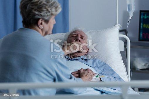 902077950istockphoto Elderly man with lung cancer 939772896