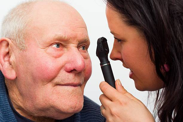 Älterer Mann mit Vision, Probleme – Foto
