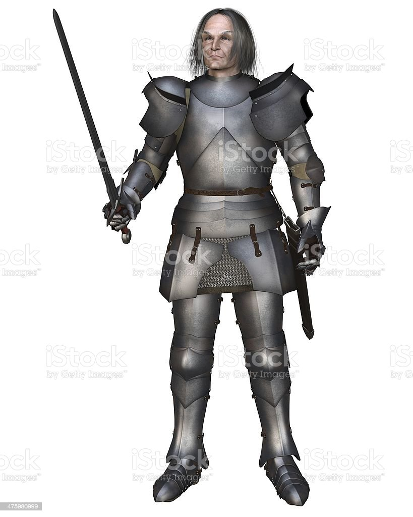Elderly Mediaeval Knight royalty-free stock photo