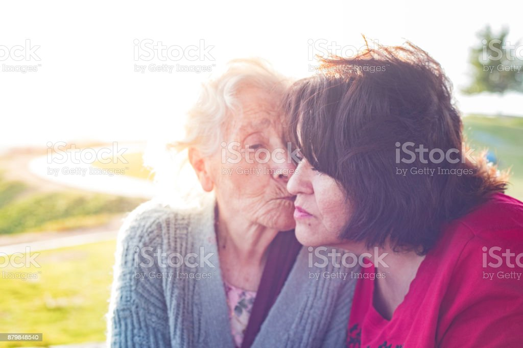 Elderly Mother stock photo
