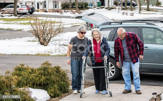 istock Elderly Parents and Daughter Returning Home From Hospital Emergency Room 547429950