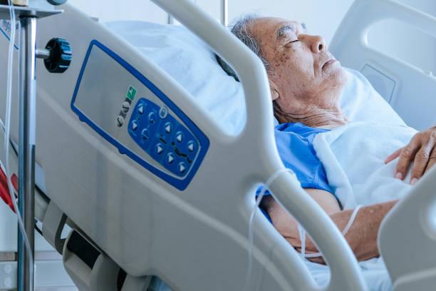 ICU patient stock photos