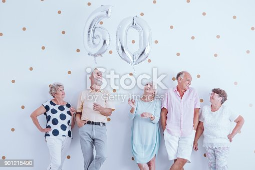 istock Elderly people during birthday meeting 901215490
