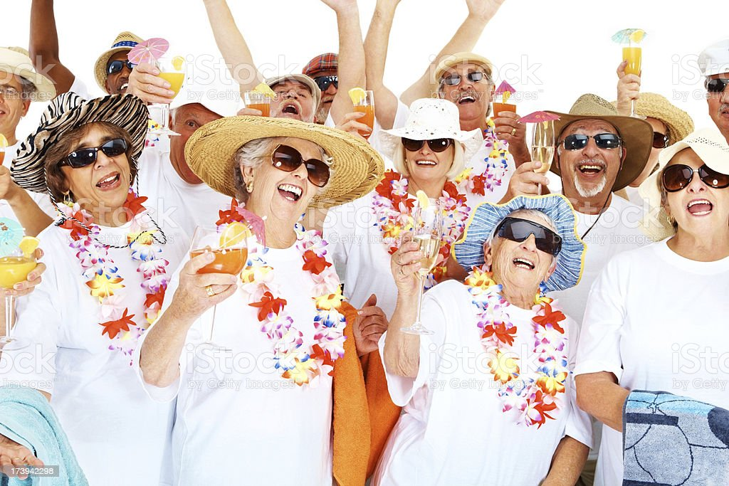 Elderly people having fun together royalty-free stock photo