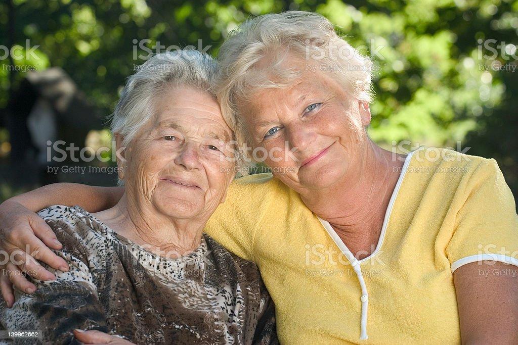 Elderly people royalty-free stock photo