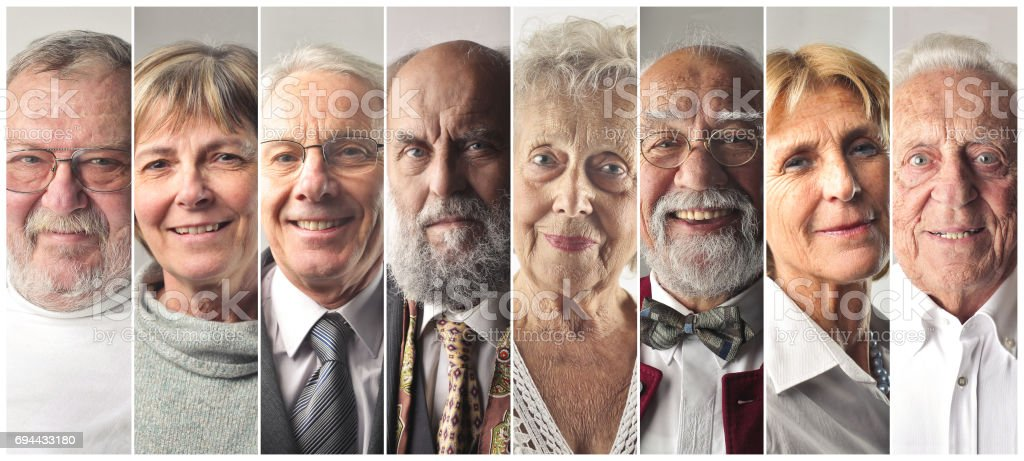 Elderly people stock photo