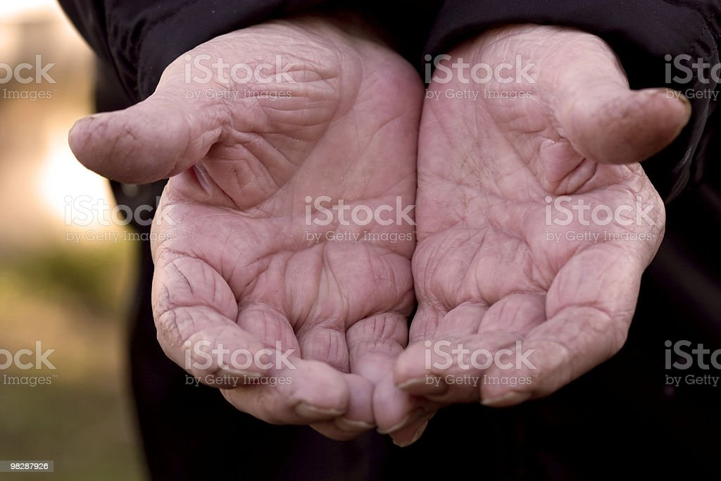 elderly persons hands royalty-free stock photo