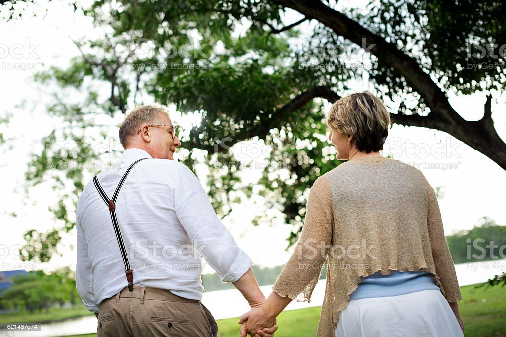 Elderly Senior Couple Romance Love Concept photo libre de droits