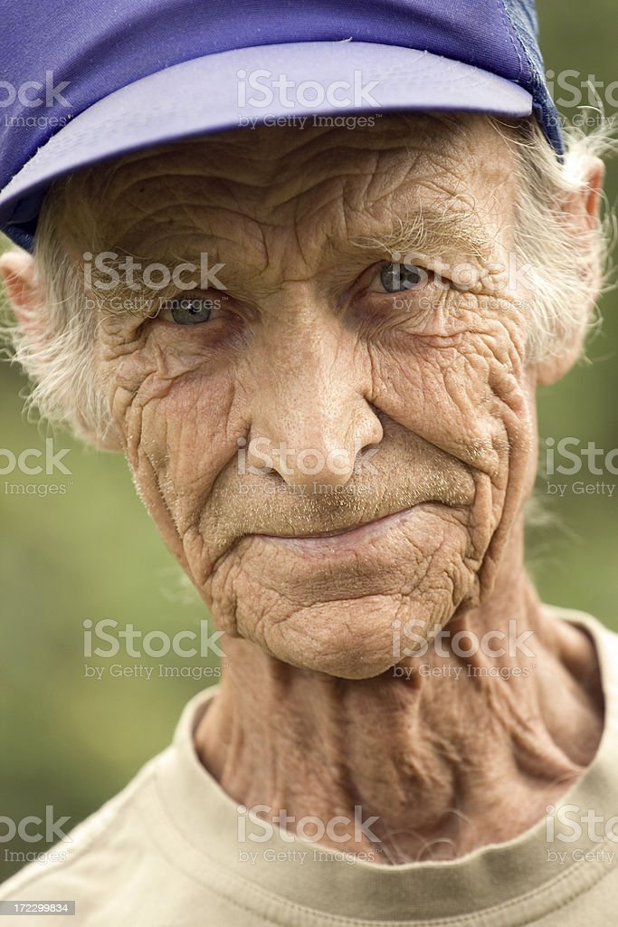 Elderly the man royalty-free stock photo