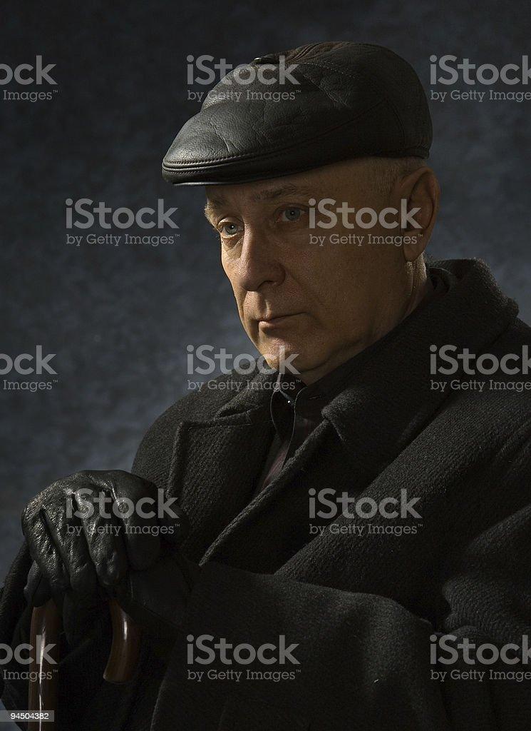 Elderly the man royalty-free stock photo