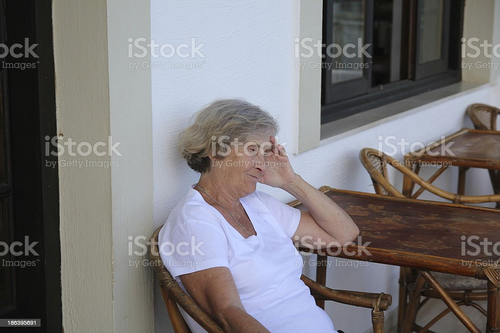 elderly woman royalty-free stock photo