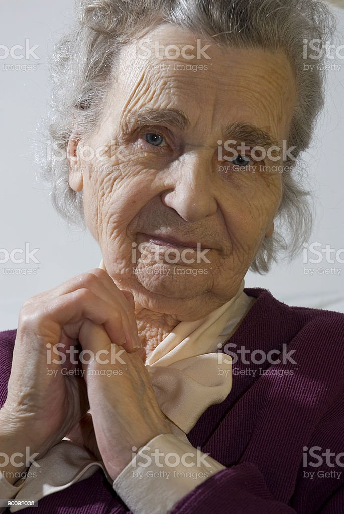 elderly woman (serie) stock photo