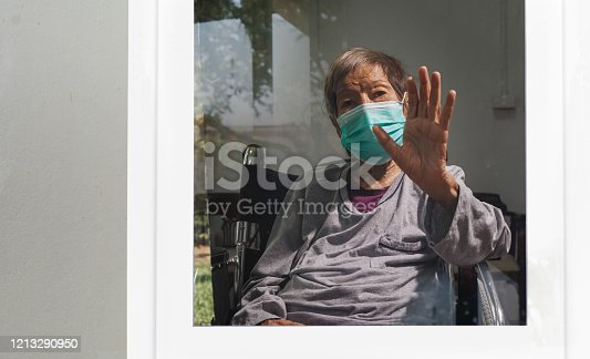 istock Elderly woman Self-isolation and self-quarantine to help stop the spread of coronavirus (COVID-19) , while you wait for test results. 1213290950