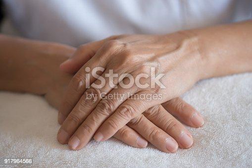 istock Elderly woman suffering from pain From Rheumatoid Arthritis 917964566