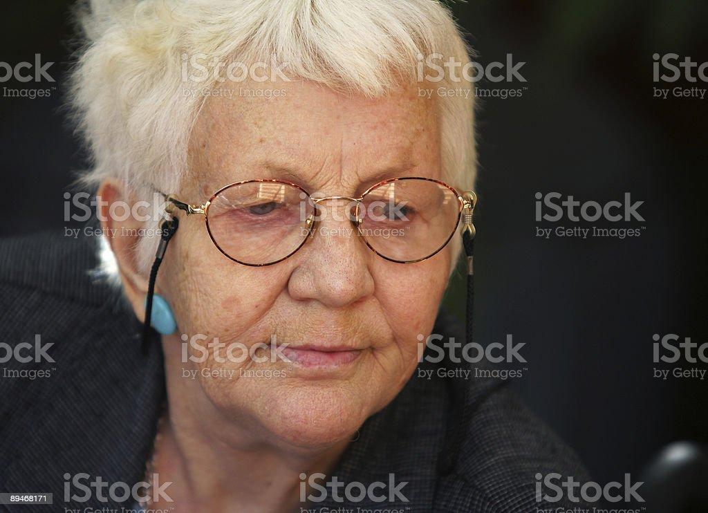 Elderly Woman three royalty-free stock photo