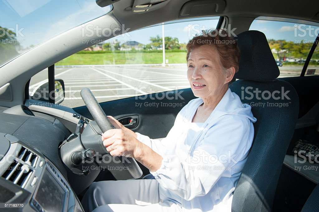 Elderly Woman Who Was Driving The Car Stock Photo Download Image Now Istock
