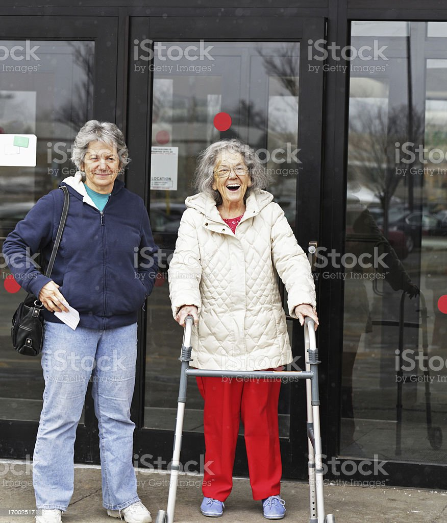 Elderly Woman With Huge Smile royalty-free stock photo