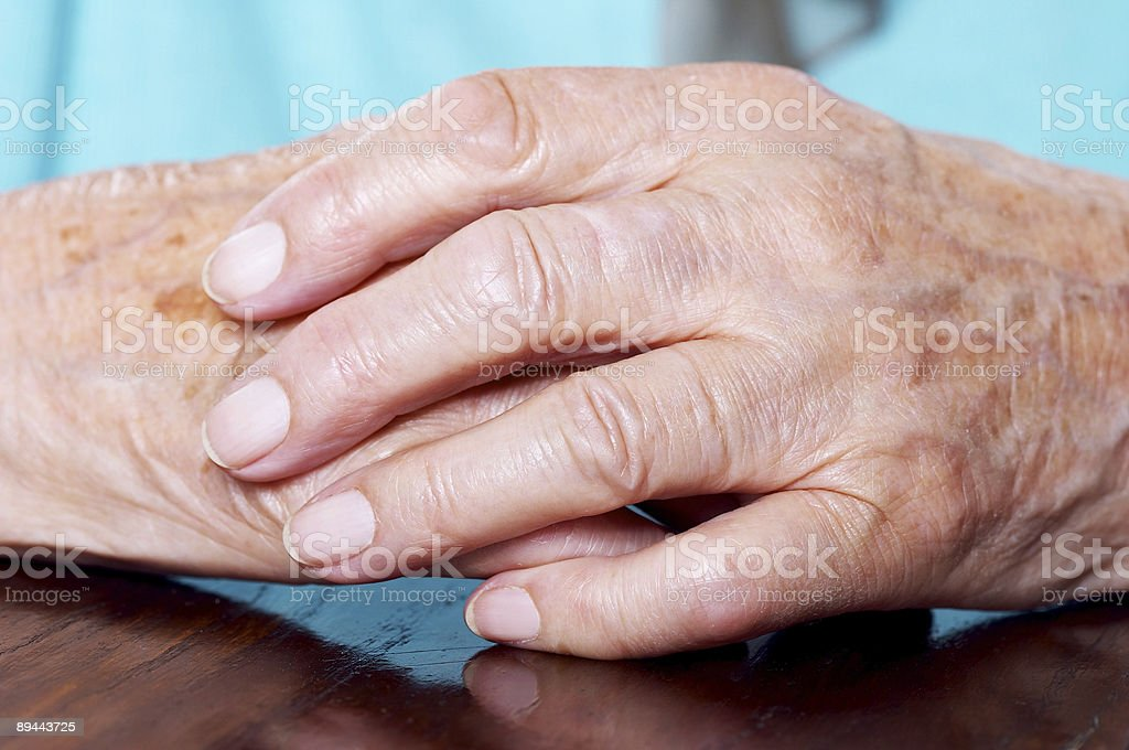 Elderly woman's hands royalty-free stock photo